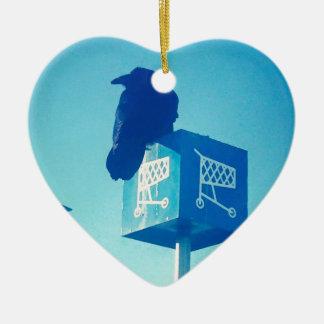Lone Raven Walmart cart sign Ceramic Heart Decoration