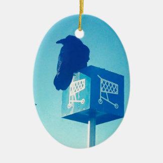 Lone Raven Walmart cart sign Ceramic Oval Decoration