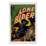 Lone Rider Vintage Comic Book Cover Poster
