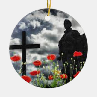 Lone Soldiers WW1 Round Ceramic Decoration