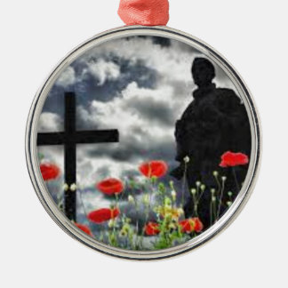 Lone Soldiers WW1 Silver-Colored Round Decoration