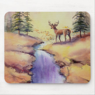 LONE STAG by SHARON SHARPE Mouse Pad