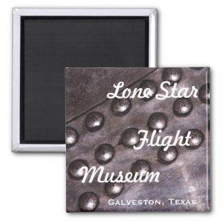 Lone Star Flight Museum Square Magnet