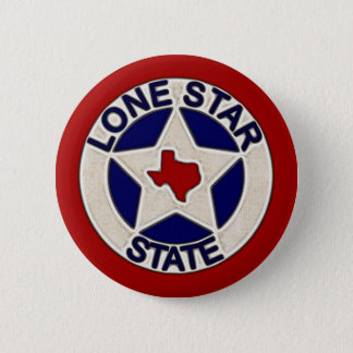 Lone Star State 6 Cm Round Badge