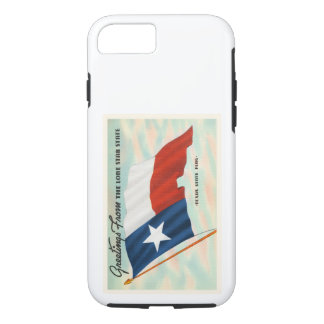 Lone Star State Texas TX Vintage Travel Souvenir iPhone 7 Case