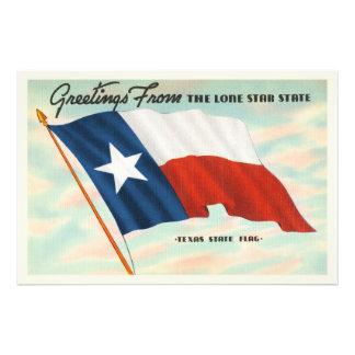Lone Star State Texas TX Vintage Travel Souvenir Photograph