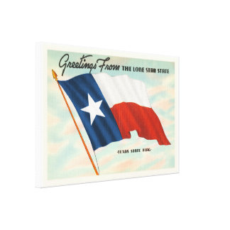 Lone Star State Texas TX Vintage Travel Souvenir Stretched Canvas Prints