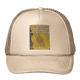 Lone Star Uke Fest Poster Art Hats