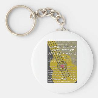 Lone Star Uke Fest Poster Art Key Ring