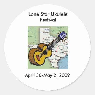 Lone Star Ukulele Festival Merchandise Classic Round Sticker