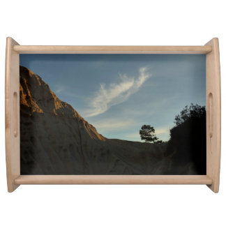 Lone Torrey Pine California Sunset Landscape Serving Tray