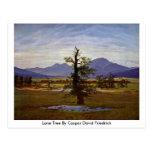 Lone Tree By Caspar David Friedrich Postcard
