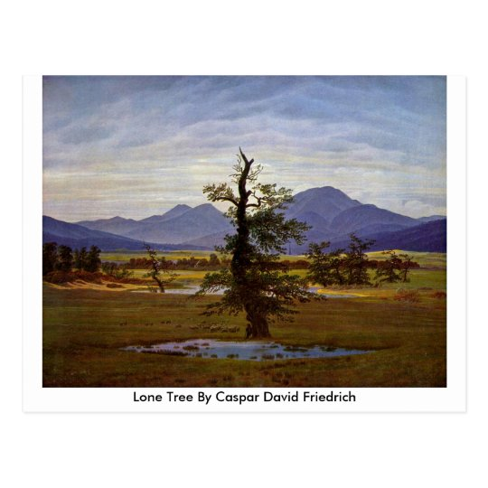 Lone Tree By Caspar David Friedrich Postcard