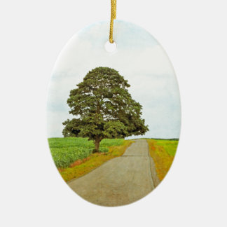 Lone Tree Ceramic Oval Decoration