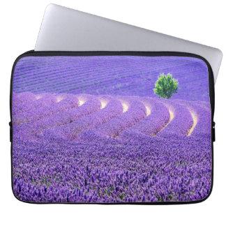 Lone tree in Lavender Field, France Laptop Sleeve