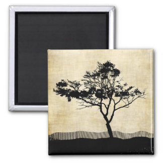 Lone Tree Silhouette Magnet