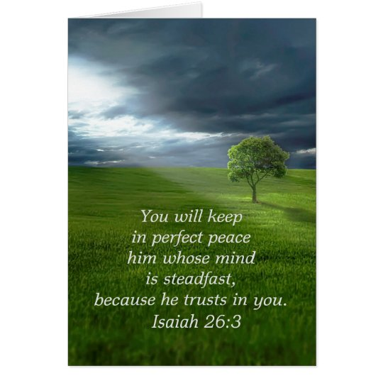 Lone Tree Trust in the Lord Praying for You Card