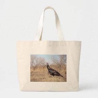 Lone Turkey Large Tote Bag