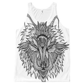 Lone Wolf All-Over Print Tank Top
