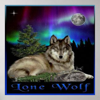 Lone wolf art poster