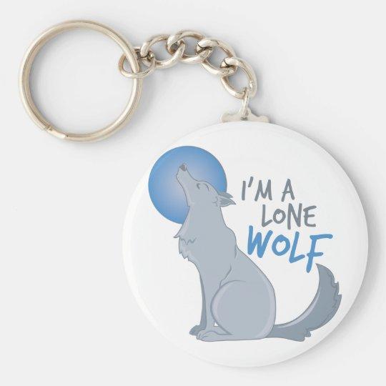 Lone Wolf Basic Round Button Key Ring