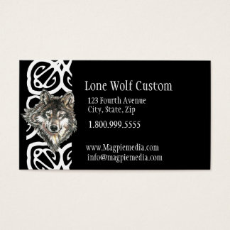 Lone Wolf Custom Business Card