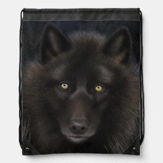 Lone Wolf Draw String Bag