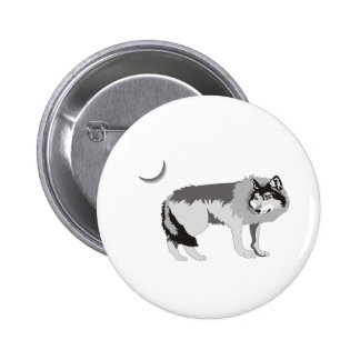 Lone Wolf II -Mystery Canine! 6 Cm Round Badge