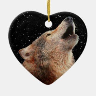 Lone Wolf - Multi-Products Ceramic Heart Decoration