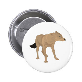 Lone Wolf -Mystery Canine! 6 Cm Round Badge