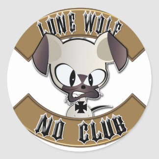 Lone Wolf No Club Round Sticker