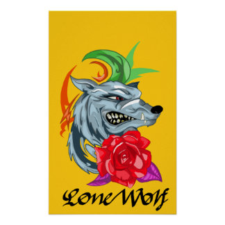 lone wolf poster art