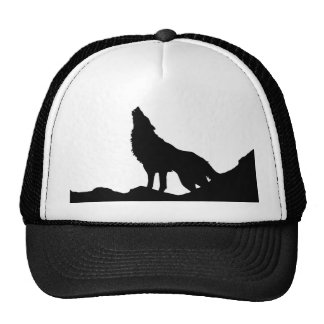 Lone Wolf Standing on a Hill Cap