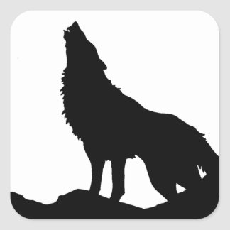 Lone Wolf Standing on a Hill Sticker