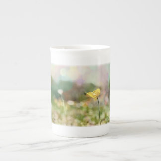 Lone Yellow Poppy Tea Cup