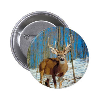 Loneley Reindeer 6 Cm Round Badge