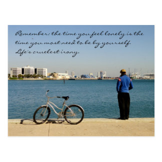 Loneliness Quote Postcard / Miami Bayfront Park