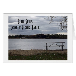 """LONELY AND BLUE WITHOUT """"YOU!"""" MISS YOU GREETING CARD"""