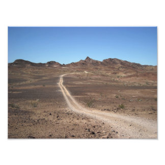 Lonely Arizona Desert Trail Landscape Photo Print