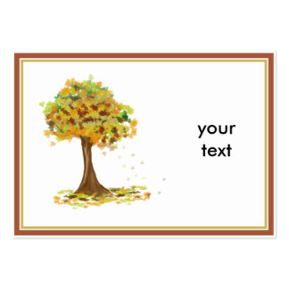 Lonely Autumn Tree Business Card Template