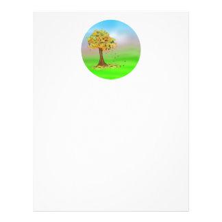 Lonely Autumn Tree Flyer Design