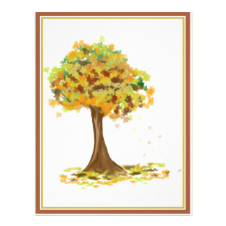 Lonely Autumn Tree Full Color Flyer