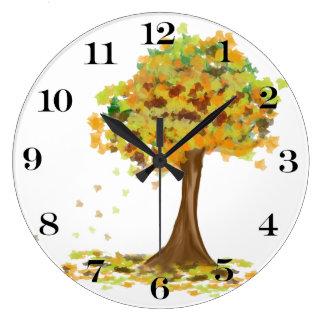 Lonely Autumn Tree Wall Clock
