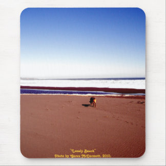 Lonely Beach Mouse Pad