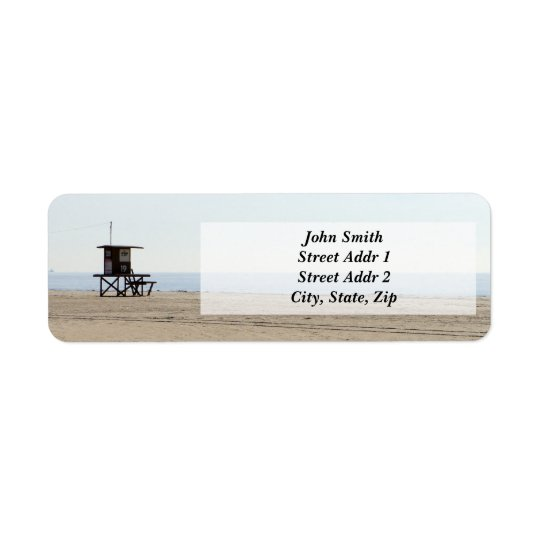 Lonely Beach Return address Label