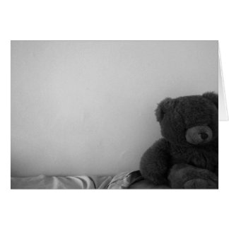 Lonely Bear blank notecard