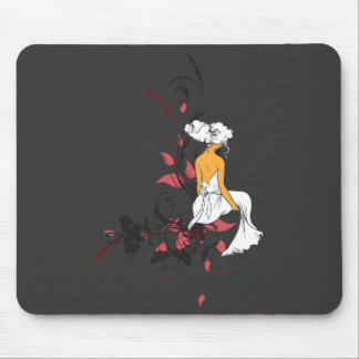 lonely beauty vector design mousepad