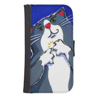 Lonely Blue Cat Samsung Galaxy Case