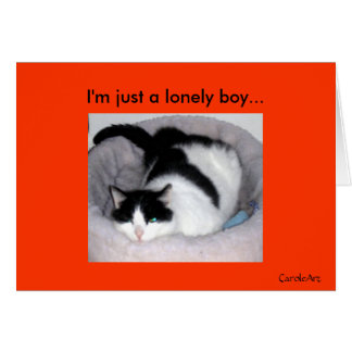"""Lonely Boy"" Greeting Card"