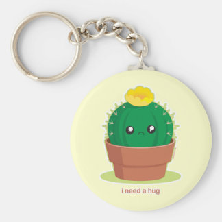Lonely Cactus Key Ring